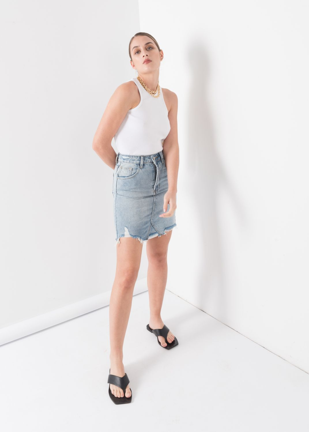FALDA MINI DENIM